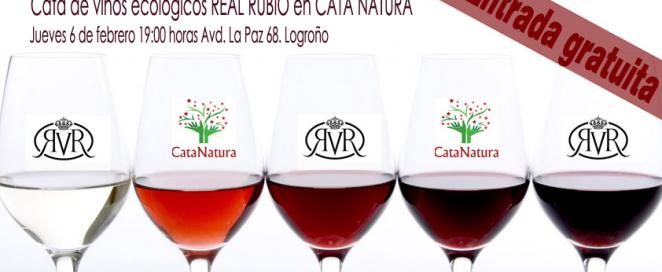 Cata de vinos ecológicos Real Rubio en Cata Natura