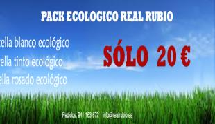 Oferta vinos ecológicos REAL RUBIO